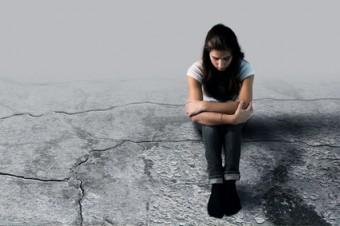 adolescente, bambina, solitudine