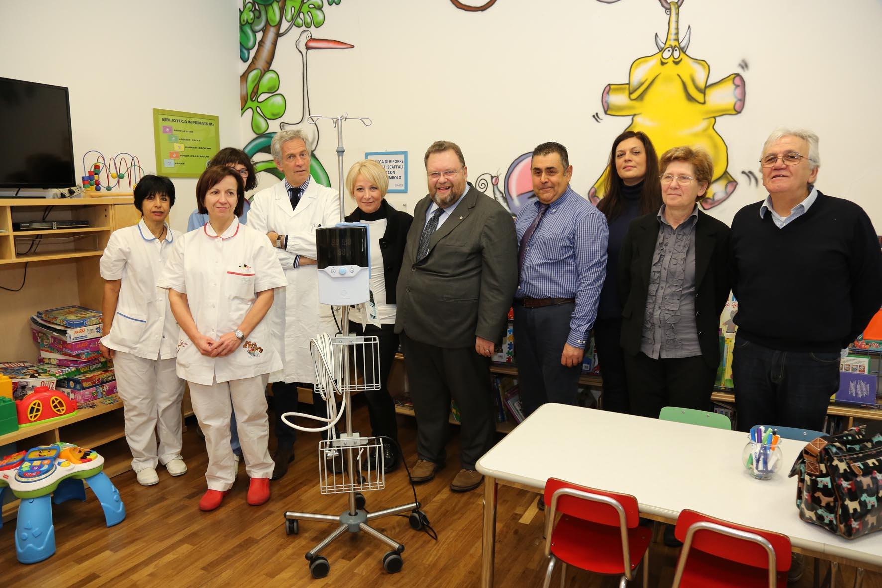Bronchiolite, per evitare il ricovero nuovo apparecchio in Pediatria