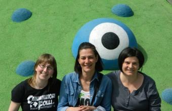 Da sinistra Claudia Protti, Raffaella Bedetti ed Elvira Cangiano