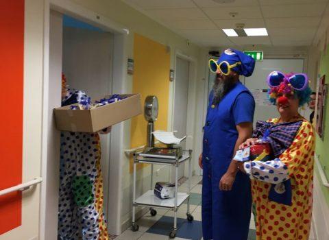 Rimini, giochi e spettacoli in Pediatria e Oncoematologia